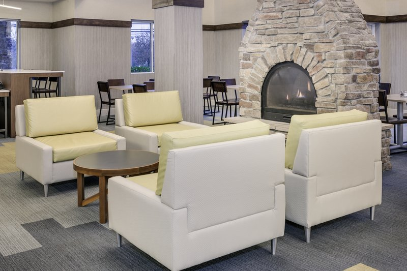 Holiday Inn Express & Suites Long Island-East End-A quiet place to work, read, or relax fireside<br/>Image from Leonardo