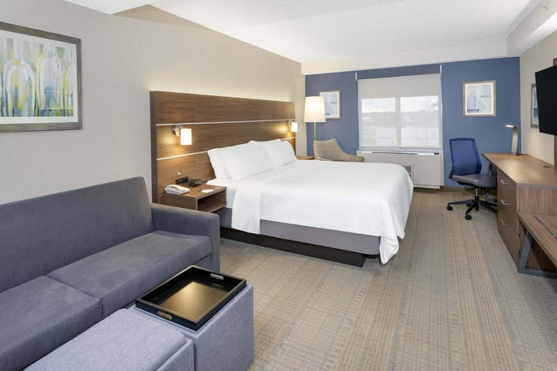 Holiday Inn Express & Suites Long Island-East End-King bed with pull-out sofa and kitchenette<br/>Image from Leonardo