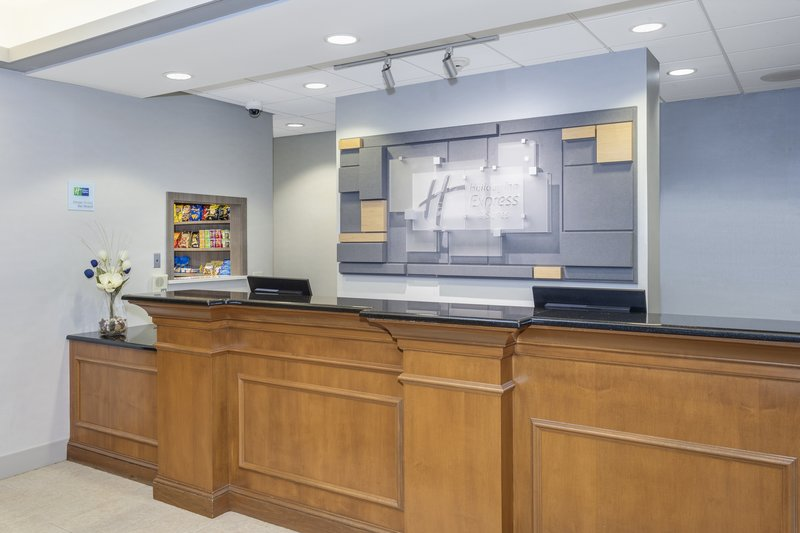 Holiday Inn Express & Suites Long Island-East End-Our spacious lobby with 24 hour coffee and WiFi<br/>Image from Leonardo