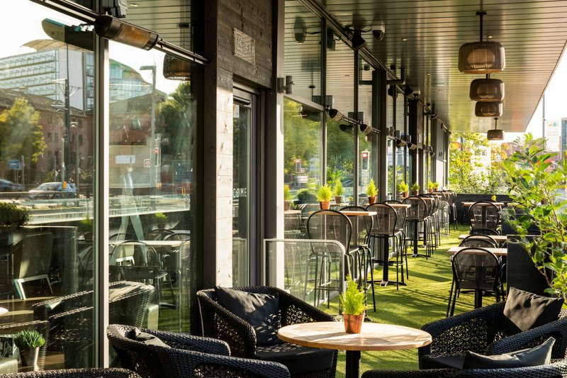 AC Hotel by Marriott Manchester Salford Quays-AC Lounge & Terrace<br/>Image from Leonardo