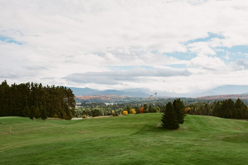 Crowne Plaza Lake Placid-You can see the ski jumps in the view from the Lake Placid Club<br/>Image from Leonardo