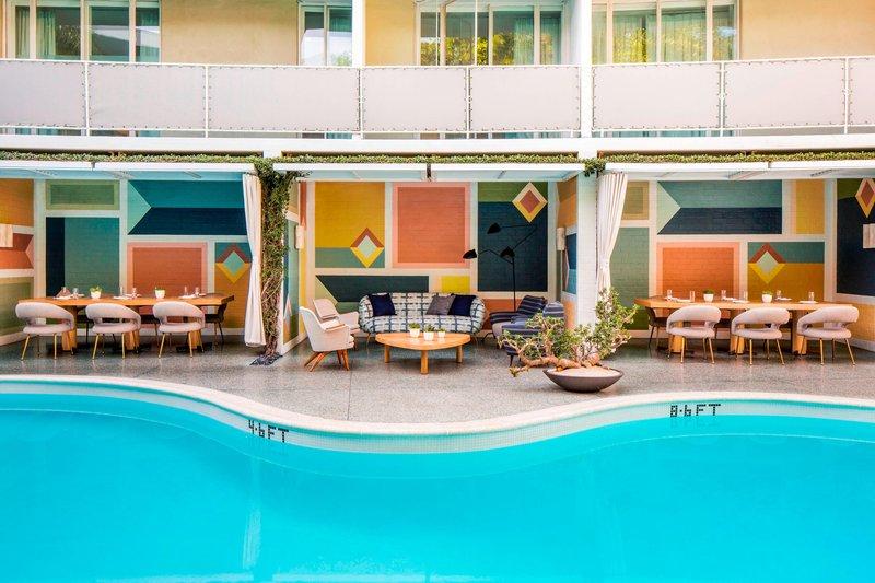 Avalon Hotel Beverly Hills-Viviane Restaurant Terrace<br/>Image from Leonardo