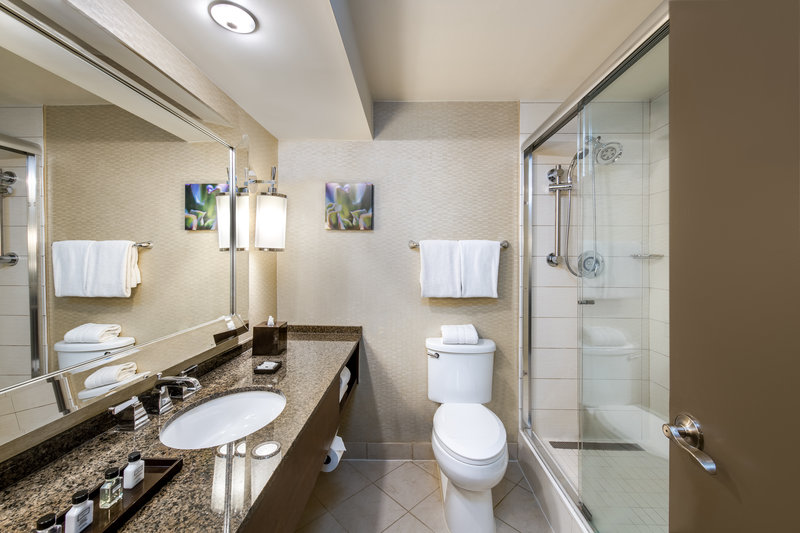 Crowne Plaza White Plains - Downtown-Guest Bathroom<br/>Image from Leonardo