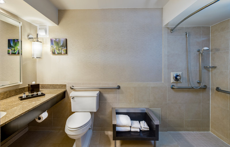 Crowne Plaza White Plains - Downtown-Wheelchair accessible bathroom<br/>Image from Leonardo