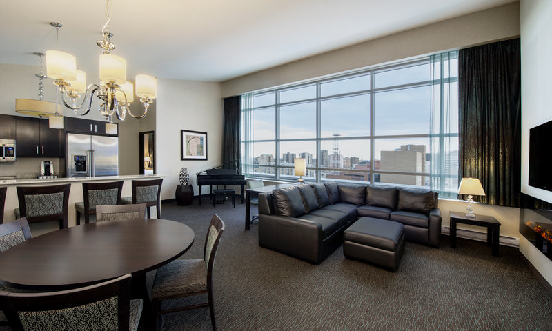 Holiday Inn Saskatoon Downtown-VIP Penthouse Suite with Baby Grand Piano and oversized windows<br/>Image from Leonardo