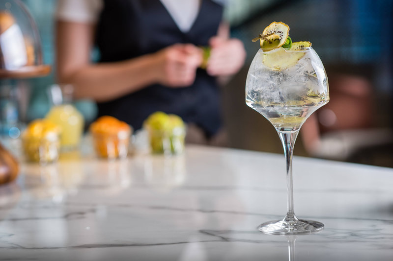 Budapest Marriott Hotel-Liz and Chain - Gin and tonic<br/>Image from Leonardo