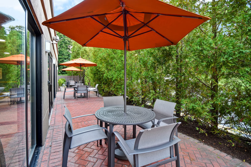 Holiday Inn Express Middletown/Newport-Guest Patio<br/>Image from Leonardo