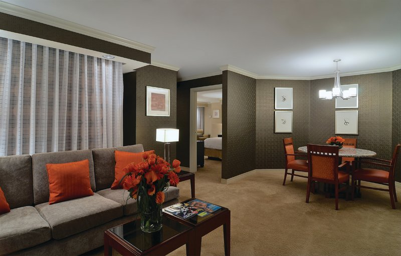 New York-New York Hotel-One Bdrm Luxury Suite Living Dining Rooms<br/>Image from Leonardo