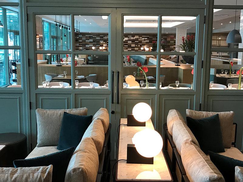 Crowne Plaza Marlow-French windows overlooking Restaurant <br/>Image from Leonardo