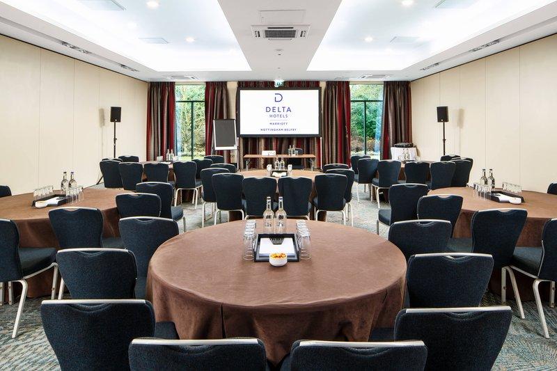 Delta Hotels Nottingham-Wellington Meeting Room - Cabaret Setup<br/>Image from Leonardo