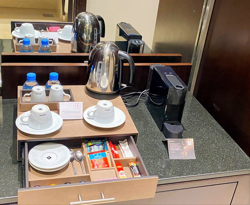 Millennium Doha - Room Coffee & Tea Station <br/>Image from Leonardo