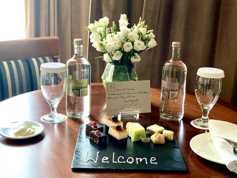 Millennium Doha - Executive Suite Welcome Note <br/>Image from Leonardo