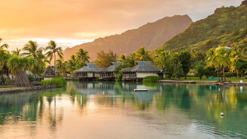 Sofitel Moorea Ia Ora Beach Resort-Sunrise at the resort<br/>Image from Leonardo