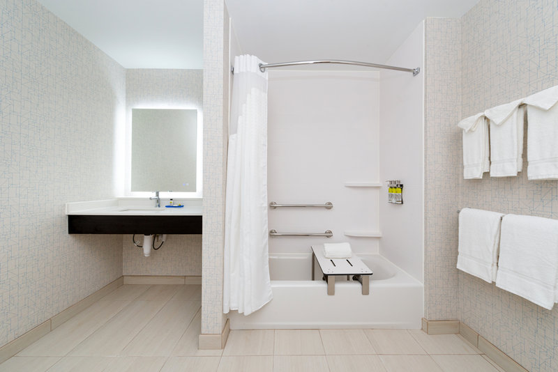 Holiday Inn Express And Suites Romeoville - Joliet North-Accessible Bathroom<br/>Image from Leonardo
