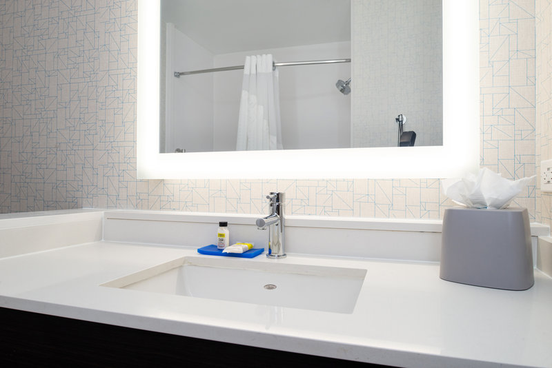 Holiday Inn Express And Suites Romeoville - Joliet North-Well lit, Lovely Bathroom wIth Vanity Mirror <br/>Image from Leonardo