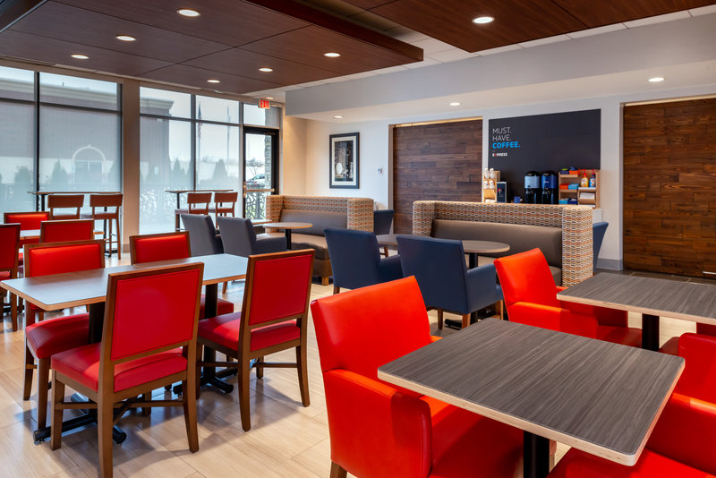 Holiday Inn Express And Suites Romeoville - Joliet North-Breakfast Area & Coffee Station Which is out 24/7<br/>Image from Leonardo