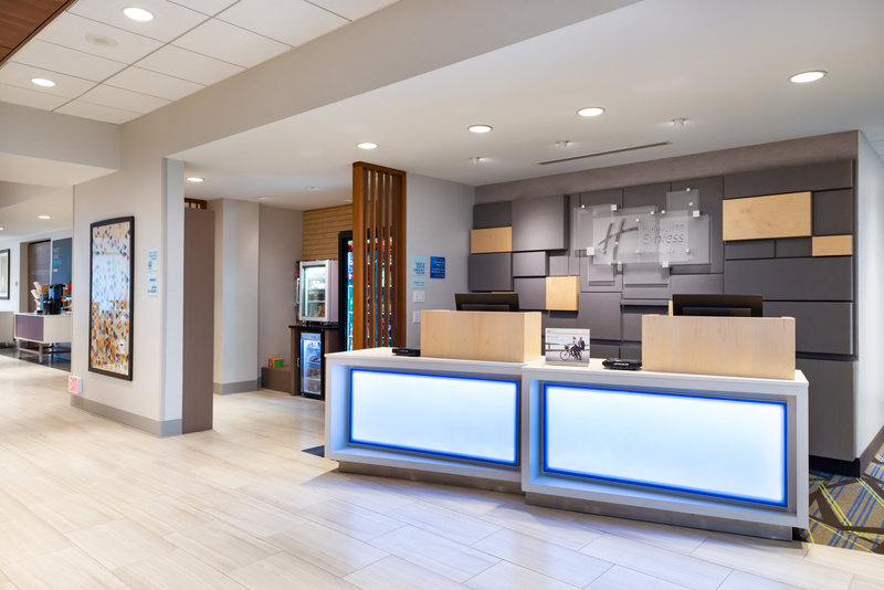 Holiday Inn Express And Suites Romeoville - Joliet North-Front Desk Lobby & Snack Shop<br/>Image from Leonardo