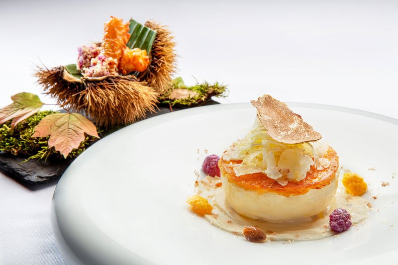 Hotel President Wilson; a Luxury Collection Hotel-Bayview by Michel Roth - Pike Soufflé With Truffle<br/>Image from Leonardo