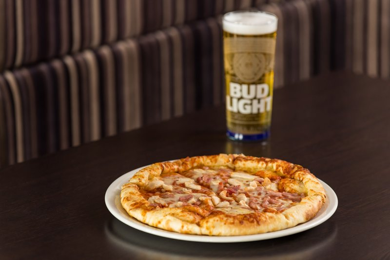 Holiday Inn Express Glasgow - City Centre Riverside-hungry? our tasty pizzas are available round the clock <br/>Image from Leonardo