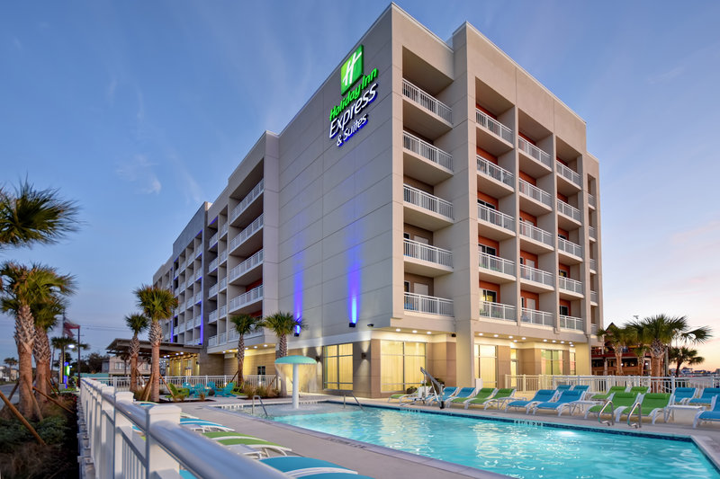 Holiday Inn Express and Suites Galveston Beach-Hotel Exterior- Located right off the Seawall Blvd<br/>Image from Leonardo