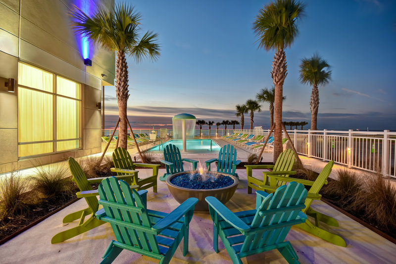 Holiday Inn Express and Suites Galveston Beach-Swimming Pool- Enjoy sunset views by our fire pit<br/>Image from Leonardo