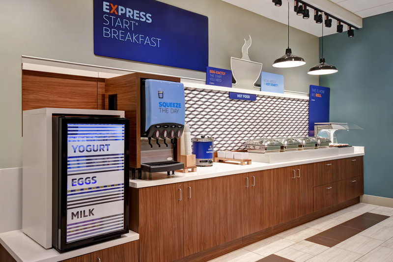 Holiday Inn Express and Suites Galveston Beach-Breakfast Bar<br/>Image from Leonardo