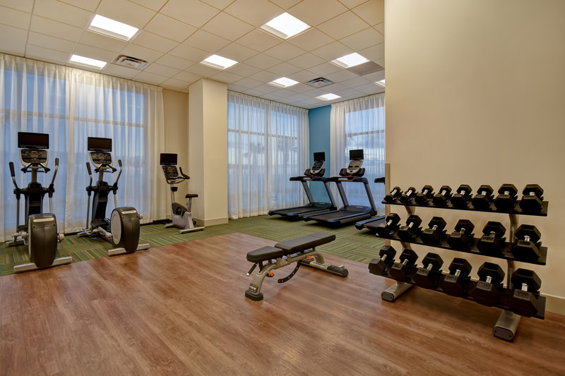 Holiday Inn Express and Suites Galveston Beach-Fitness center- Open 24/7 Free Weights<br/>Image from Leonardo