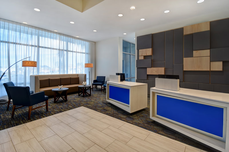 Holiday Inn Express and Suites Galveston Beach-Front Desk<br/>Image from Leonardo
