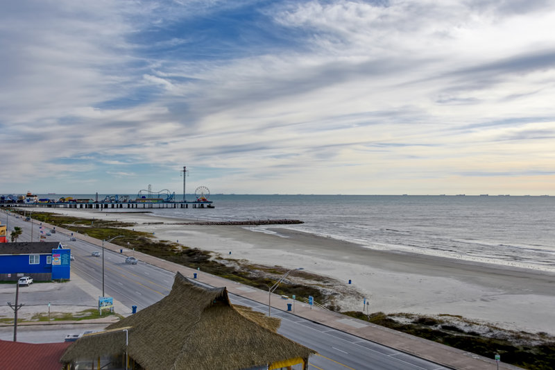 Holiday Inn Express and Suites Galveston Beach-View from Room- Steps away from Pleasure Pier<br/>Image from Leonardo