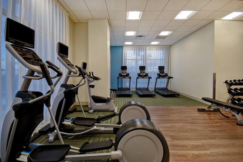 Holiday Inn Express and Suites Galveston Beach-Fitness center- Open 24/7 Treadmills & Elliptical Machines<br/>Image from Leonardo