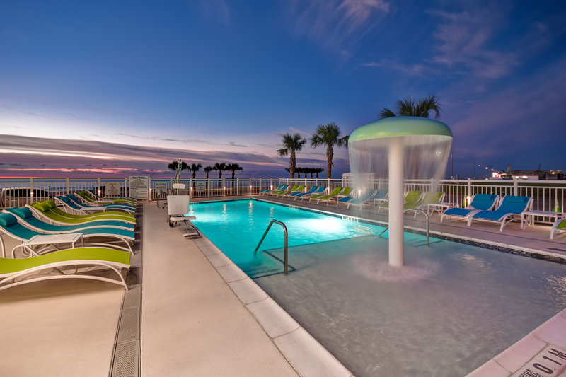 Holiday Inn Express and Suites Galveston Beach-Outdoor Pool with Lounge Areas- Unobstructed sunset view<br/>Image from Leonardo