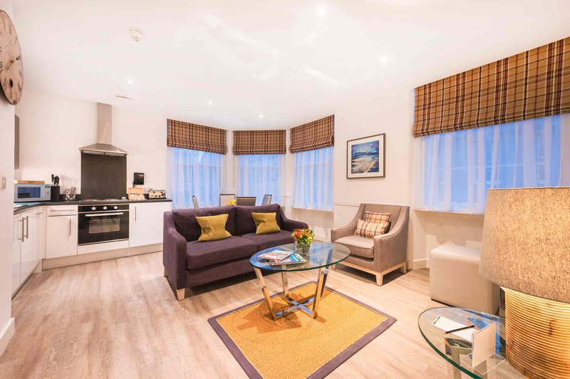 Braid Apartments by Mansley -Guest Room Lounge<br/>Image from Leonardo