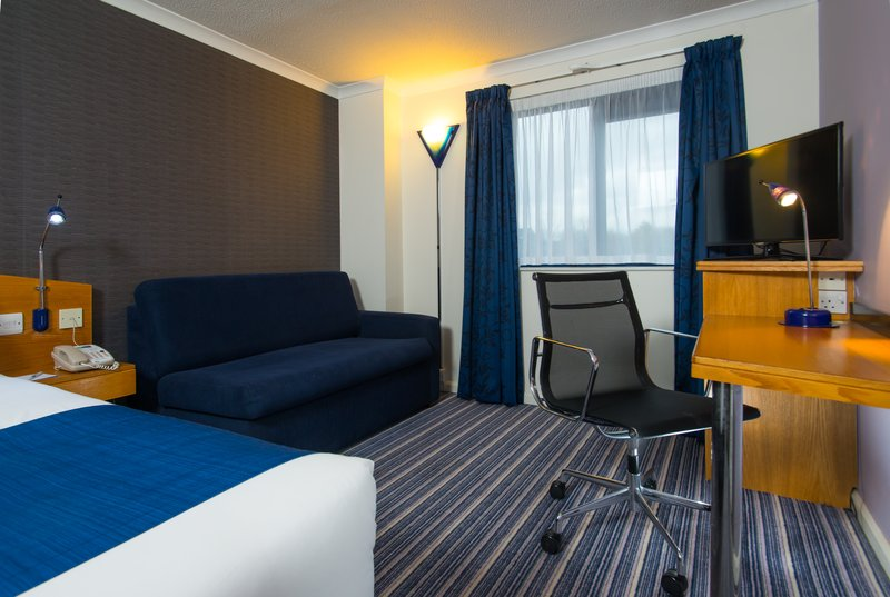 Holiday Inn Express Swansea - East-The sleeper sofa is ideal for bringing the kids!<br/>Image from Leonardo