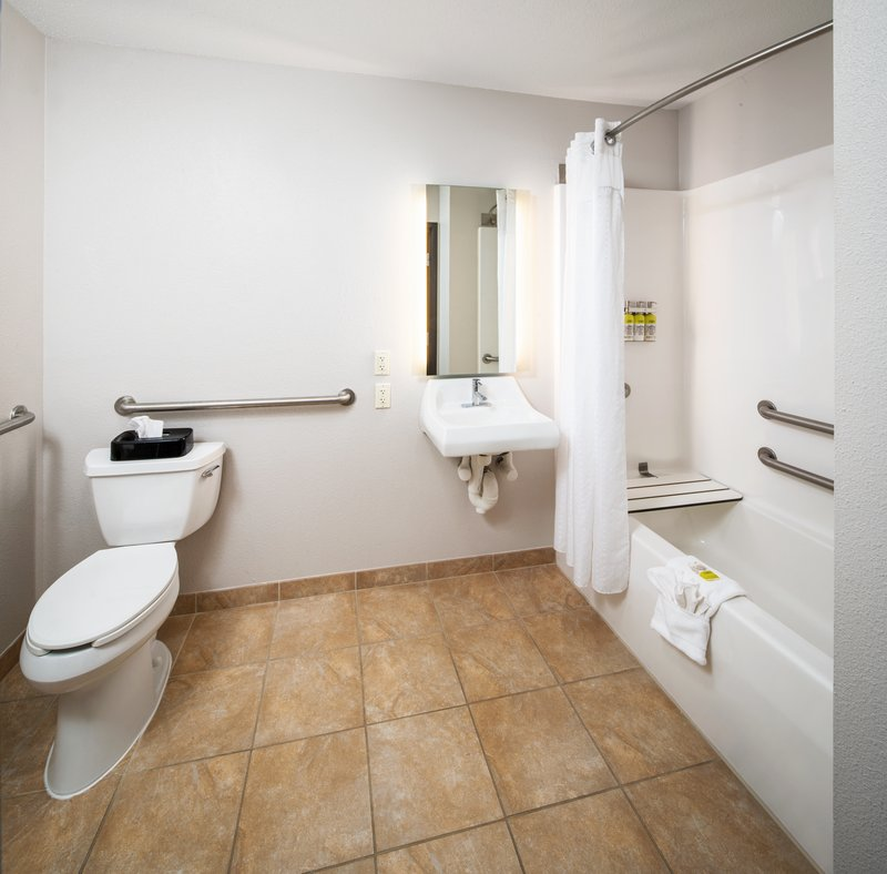 Holiday Inn Express & Suites Bellevue (Omaha Area)-Accessible Bathtub with Grab Bars and adjustable showerhead<br/>Image from Leonardo