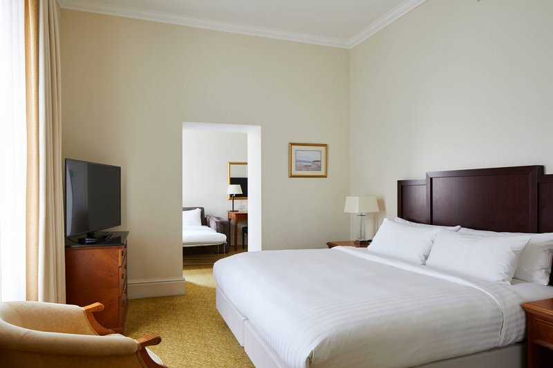 Bournemouth Highcliff Marriott Hotel-King Family Guest Room - Sleeping Area<br/>Image from Leonardo