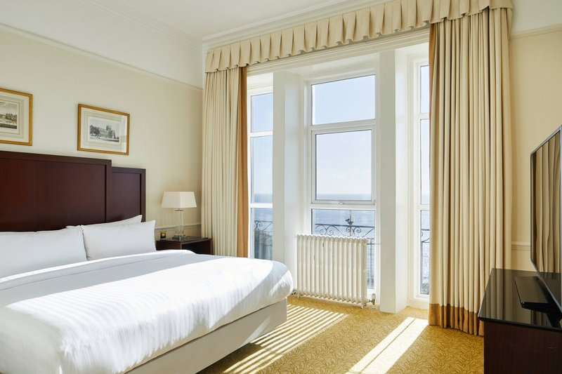 Bournemouth Highcliff Marriott Hotel-Sea View Suite - Bedroom<br/>Image from Leonardo