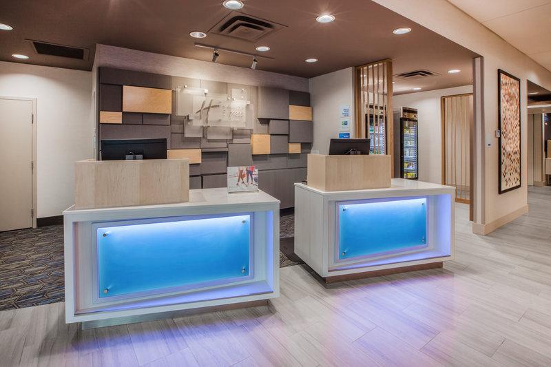 Holiday Inn Express & Suites Rockford-Loves Park-Front Desk<br/>Image from Leonardo