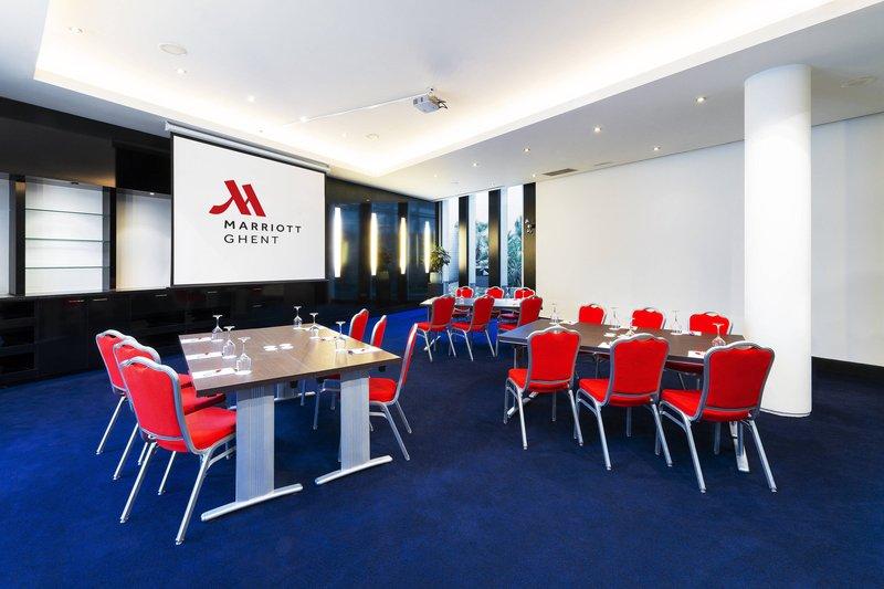 Ghent Marriott Hotel-Poppi Meeting Room - Training Setup<br/>Image from Leonardo