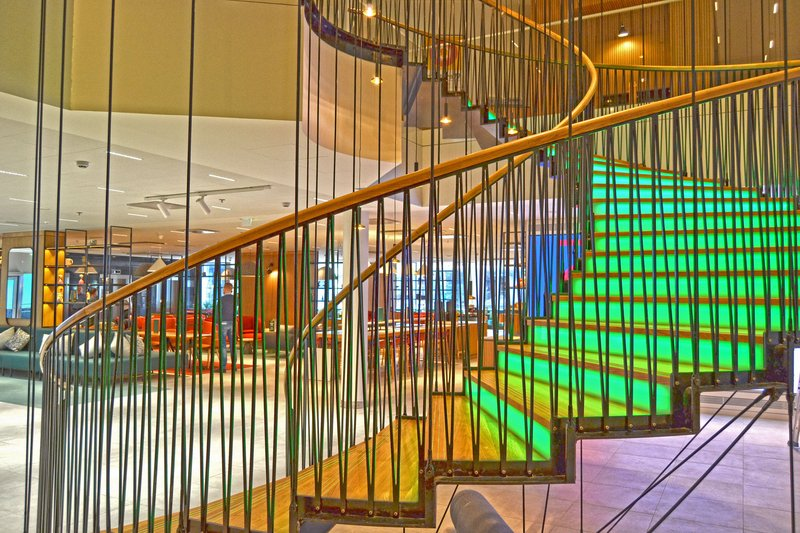 Holiday Inn Helsinki - Exhibition & Convention Centre-Climb up these colorful stairs to the second floor meeting rooms<br/>Image from Leonardo