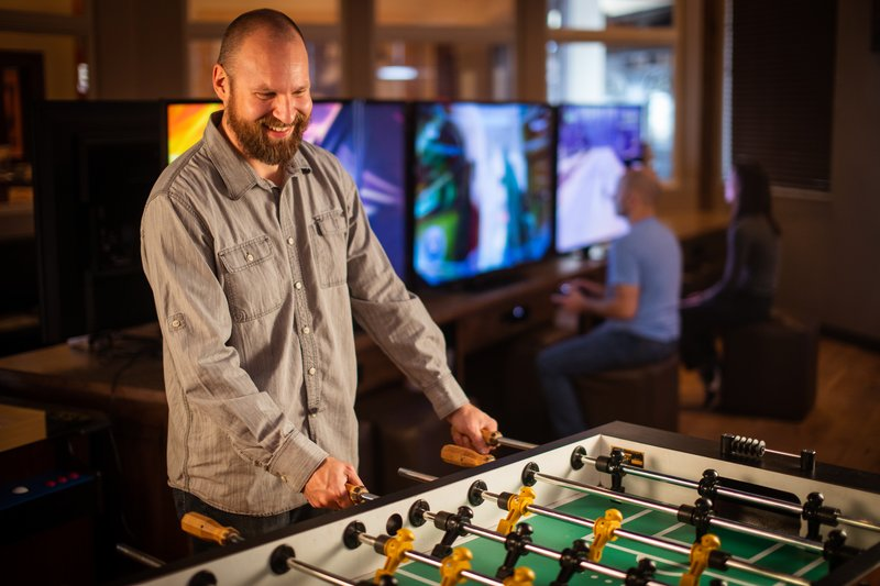 Holiday Inn West Yellowstone-Holiday Inn game room; Open daily, 7:00 AM - 10:00 PM<br/>Image from Leonardo