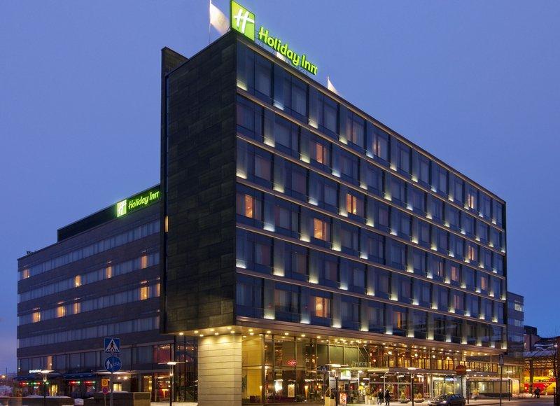 Holiday Inn Helsinki City Centre-Hotel exterior in the summer night<br/>Image from Leonardo