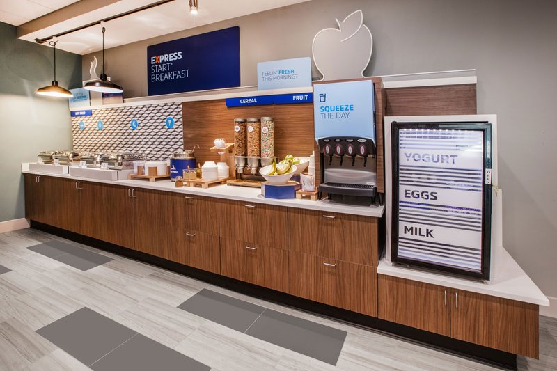 Holiday Inn Express & Suites Indianapolis - East-Juice, Yogurt, Hard Cooked Eggs & Milk - We have you covered!<br/>Image from Leonardo