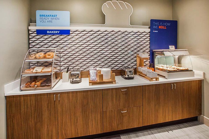 Holiday Inn Express & Suites Galveston West-Seawall-Bakery goods & Fresh HOT Signature Cinnamon Rolls for breakfast!<br/>Image from Leonardo