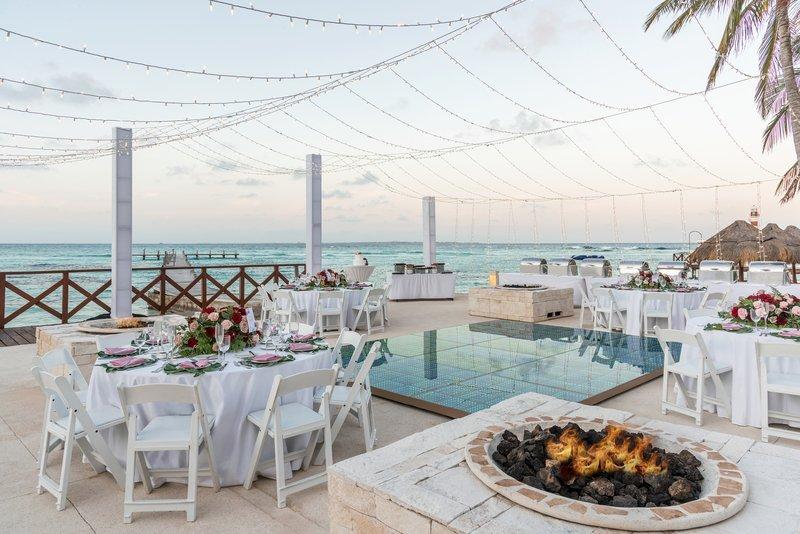 Hyatt Ziva Cancun  - Weddings Banquet Fire Pit <br/>Image from Leonardo