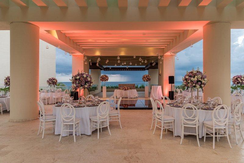 Hyatt Ziva Cancun  - Weddings Sky Terrace Dusk <br/>Image from Leonardo