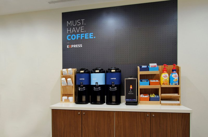 Holiday Inn Express Cincinnati West-Did you say coffee? Don't forget to take a complimentary cup to go<br/>Image from Leonardo