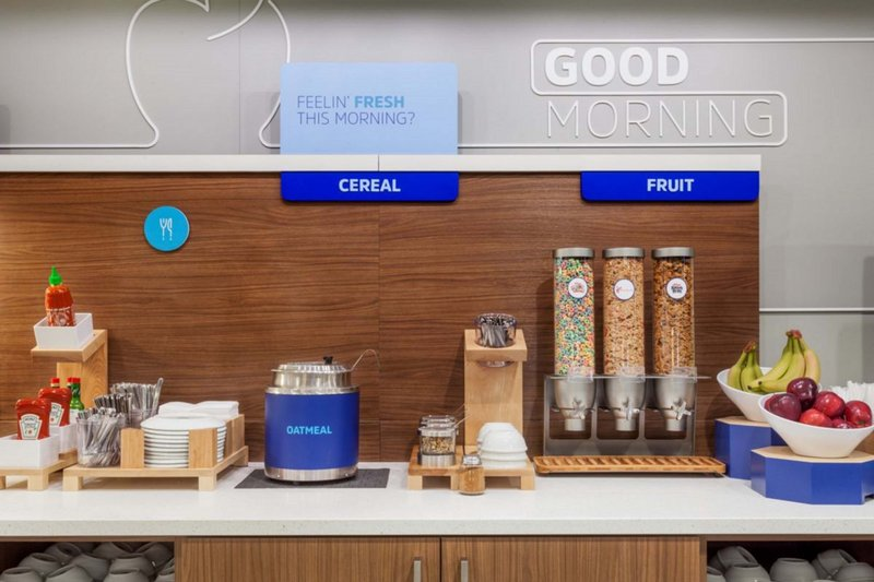 Holiday Inn Express & Suites Carlsbad-Hot & cold cereal every day plus fresh whole fruit for breakfast.<br/>Image from Leonardo