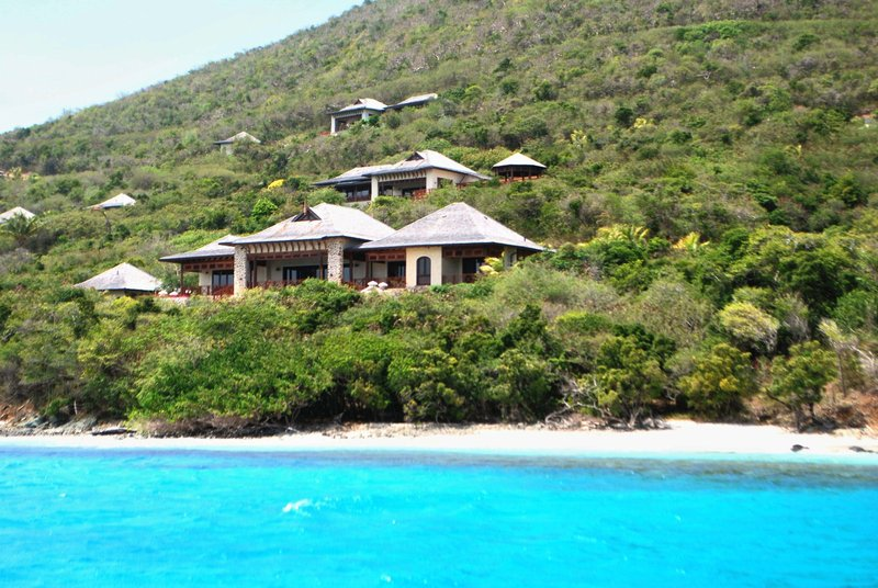 Young  Island  Resort-Big Blue Ocean Five Bedroom Villa View From Water<br/>Image from Leonardo