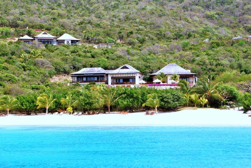 Young  Island  Resort-Big Blue Ocean Five Bedroom Villa View from Ocean<br/>Image from Leonardo