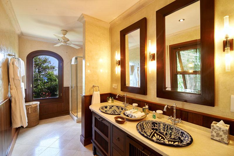 Young  Island  Resort-Carenage Four Bedroom Villa Cottage Bathroom<br/>Image from Leonardo